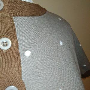 Modcloth Sweaters - ModCloth Brown polkadot cardigan
